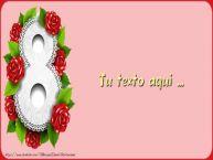 Personalizar tarjetas con texto para el día de la mujer 8 de marzo