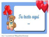 Personalizar tarjetas con texto de amor Amor