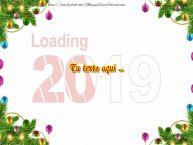 Personalizar tarjetas con texto de Año Nuevo Felicitaciones de Año Nuevo