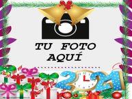 Personalizar tarjetas de Año Nuevo   Feliz Año Nuevo ...! - Marco de foto de Año Nuevo