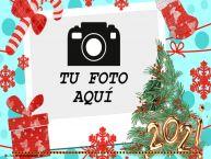 Personalizar tarjetas de Año Nuevo | ... - Marco de foto de Año Nuevo
