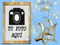 Personalizar tarjetas de Año Nuevo   Feliz Ano Nuevo ...! - Marco de foto de Año Nuevo