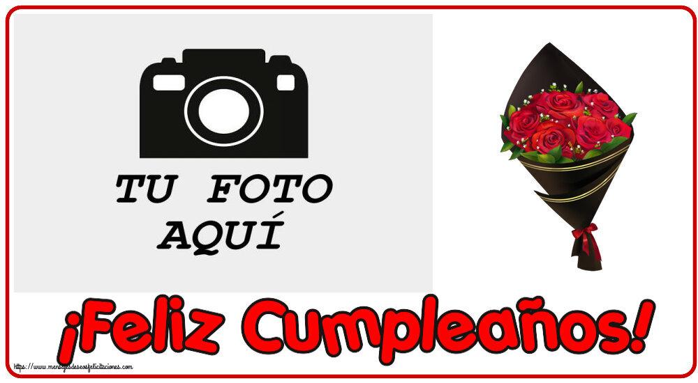 Personalizar tarjetas de cumpleaños | ¡Feliz Cumpleaños! - Marco de foto