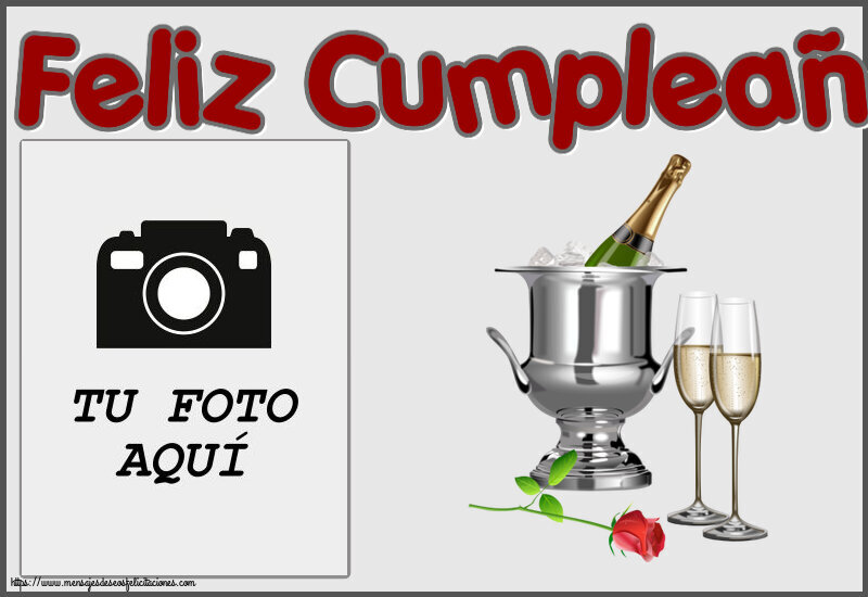 Personalizar tarjetas de cumpleaños | Feliz Cumpleaños! - Marco de foto