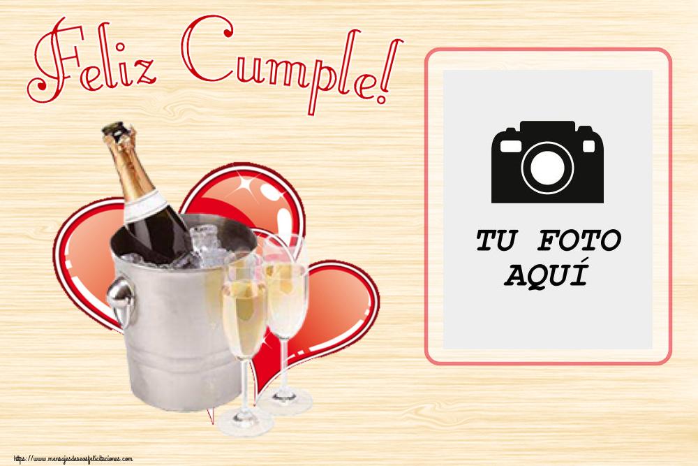 Personalizar tarjetas de cumpleaños   Feliz Cumple! - Marco de foto