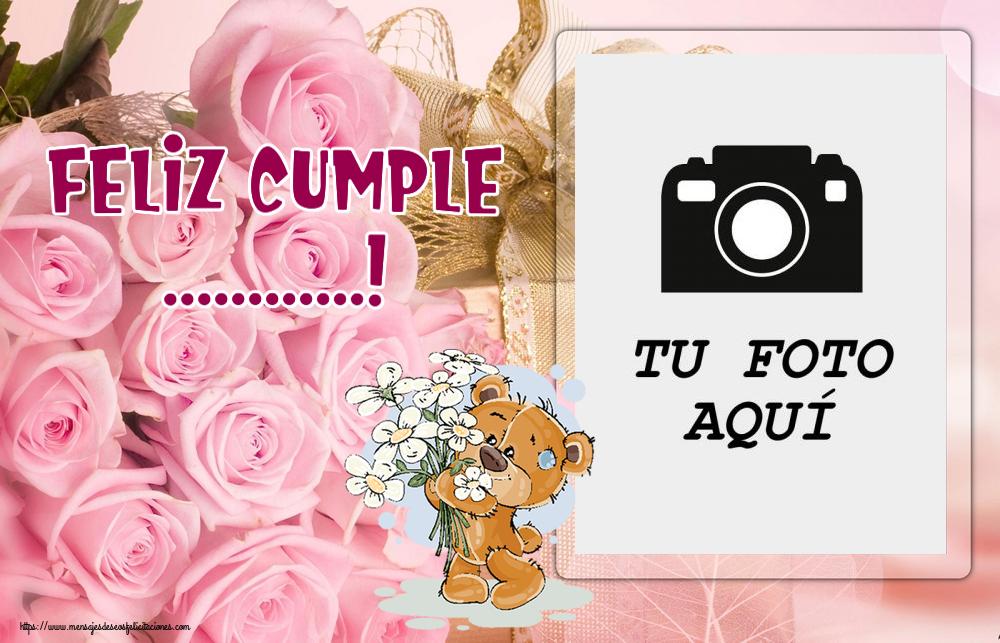 Personalizar tarjetas de cumpleaños   Feliz Cumple ...! - Marco de foto