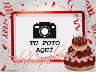 Personalizar tarjetas de cumpleaños | Feliz Cumpleaños! - Marco de foto de Cumpleaños