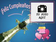 Personalizar tarjetas de cumpleaños | ¡Feliz Cumpleaños ...! - Marco de foto