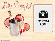 Personalizar tarjetas de cumpleaños | Feliz Cumple! - Marco de foto