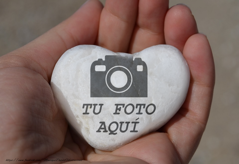 Personalizar tarjetas con fotos | Marco de la foto en forma de corazón