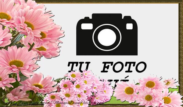 Personalizar tarjetas con fotos   Felicitaciones personalizadas con flores