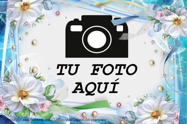 Personalizar tarjetas con fotos | Tarjeta de felicitación con flores