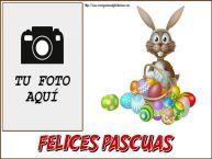 Personalizar tarjetas de Pascua | ¡Felices Pascuas! - Marco de foto