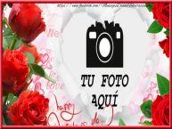 Personalizar tarjetas de San Valentín | Marco para fotos con corazones