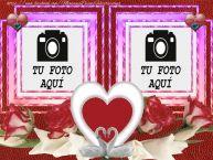 Personalizar tarjetas de San Valentín | Doble marco de la foto