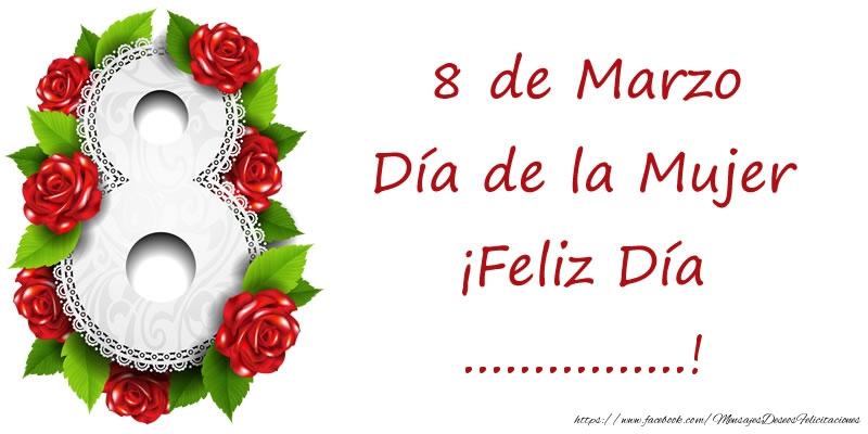 Personalizar tarjetas para el día de la mujer | 8 de Marzo Día de la Mujer ¡Feliz Día ...!