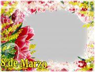 Personalizar tarjetas para el día de la mujer | 8 de Marzo - Marco de foto de Feliz Día de la Mujer