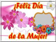 Personalizar tarjetas para el día de la mujer | ¡Feliz Día de la Mujer! - Marco de foto de Feliz Día de la Mujer