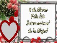 Personalizar tarjetas para el día de la mujer | 8 de Marzo Feliz Día Internacional de la Mujer! - Marco de foto de Feliz Día de la Mujer