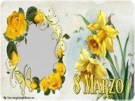 Personalizar tarjetas para el día de la mujer | 8 Marzo - Marco de foto de Feliz Día de la Mujer
