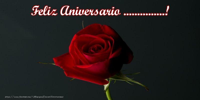 Personalizar tarjetas de aniversario   Feliz Aniversario ...!