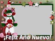 Personalizar tarjetas de Año Nuevo   ¡Feliz Año Nuevo! - Marco de foto de Año Nuevo