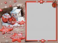 Personalizar tarjetas de Año Nuevo   Te deseo Feliz Navidad y Próspero Año Nuevo 2019! - Marco de foto de Año Nuevo