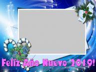 Personalizar tarjetas de Año Nuevo   Feliz Año Nuevo 2019! - Marco de foto de Año Nuevo