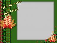 Personalizar tarjetas de Año Nuevo   ¡Feliz año nuevo para todos! - Marco de foto de Año Nuevo