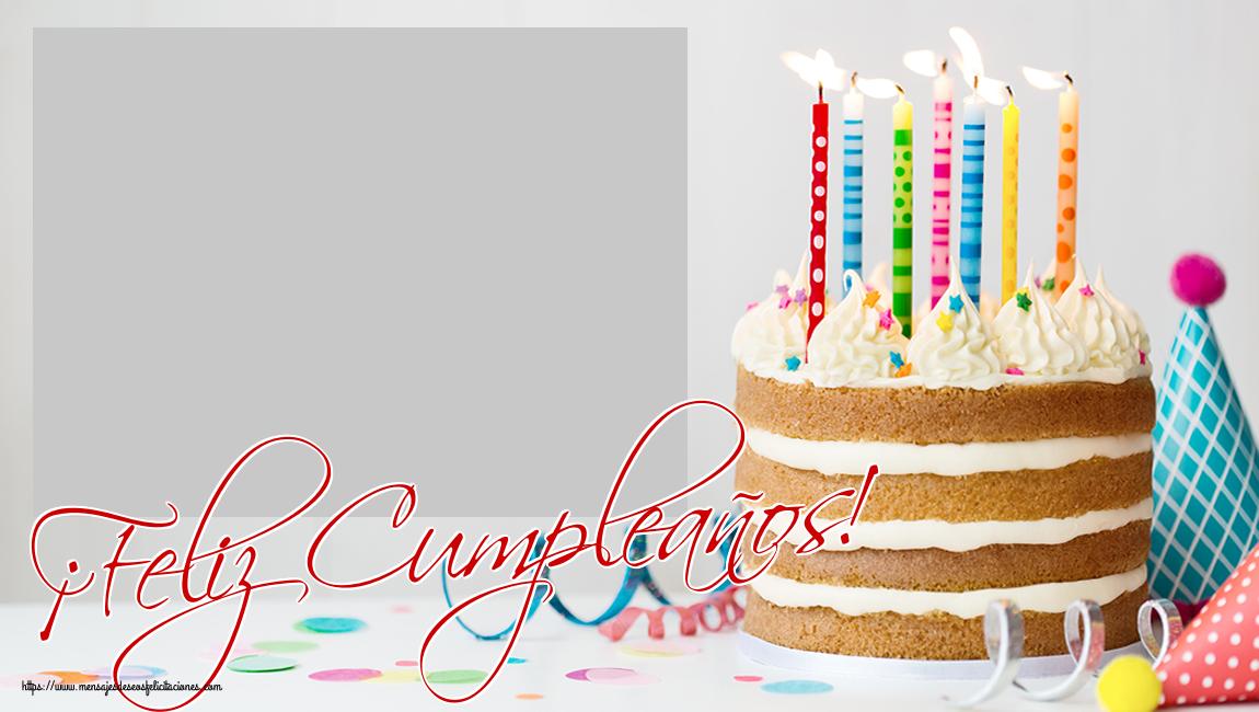 Personalizar tarjetas de cumpleaños | ¡Feliz Cumpleaños! - Marco de foto de Cumpleaños