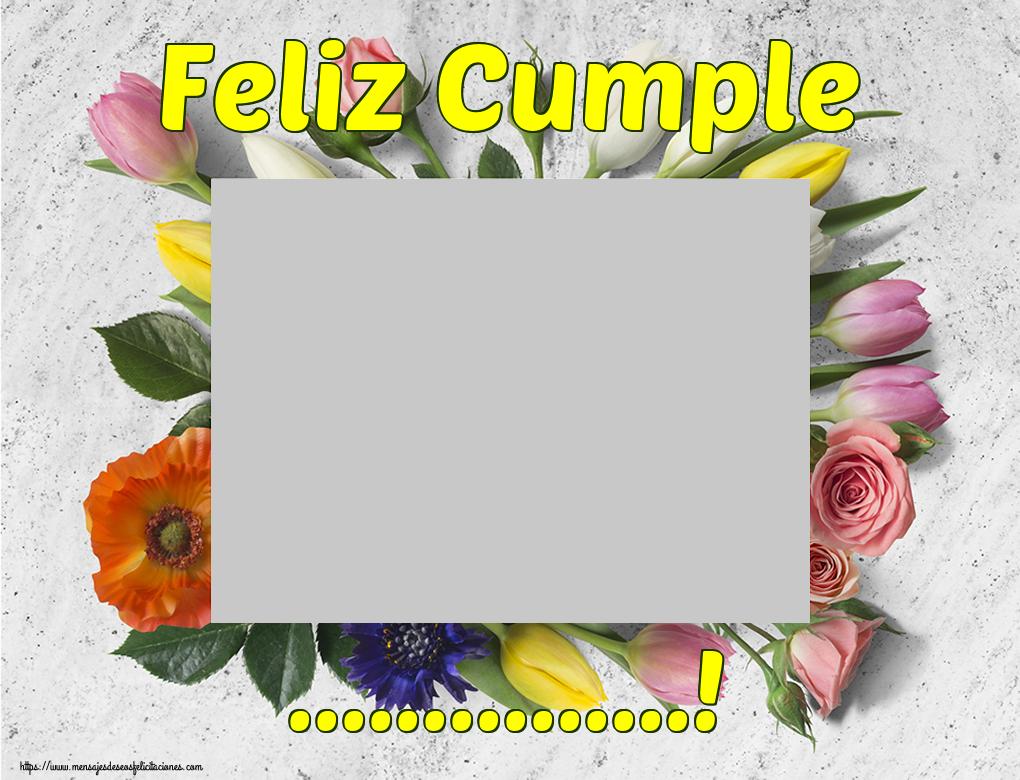 Personalizar tarjetas de cumpleaños | Feliz Cumple ...! - Marco de foto de Cumpleaños