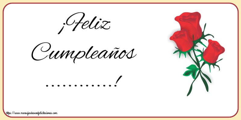 Personalizar tarjetas de cumpleaños   ¡Feliz Cumpleaños ...!