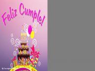 Personalizar tarjetas de cumpleaños   Feliz Cumple! - Marco de foto de Cumpleaños