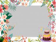 Personalizar tarjetas de cumpleaños   Marco de foto de Cumpleaños
