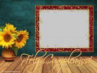 Personalizar tarjetas de cumpleaños   ¡Feliz Cumpleaños! - Marco de foto de Cumpleaños