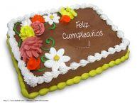 Personalizar tarjetas de cumpleaños | Torta al cioccolato: Buon Compleanno ...!