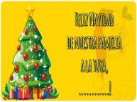 Personalizar tarjetas de Navidad | Feliz Navidad de nuestra familia a la tuya, ...!