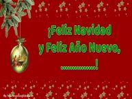 Personalizar tarjetas de Navidad | ¡Feliz Navidad y Feliz Año Nuevo, ...!