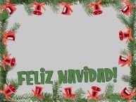 Personalizar tarjetas de Navidad | ¡Feliz Navidad! - Marco de foto de Navidad