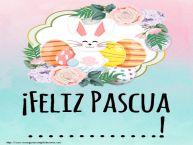 Personalizar tarjetas de Pascua | ¡Feliz Pascua ...!